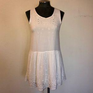 Anine Bing Eyelet Trim Tunic Dress